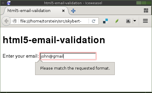 html5 input email