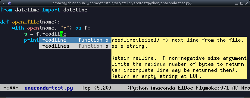 python in emacs