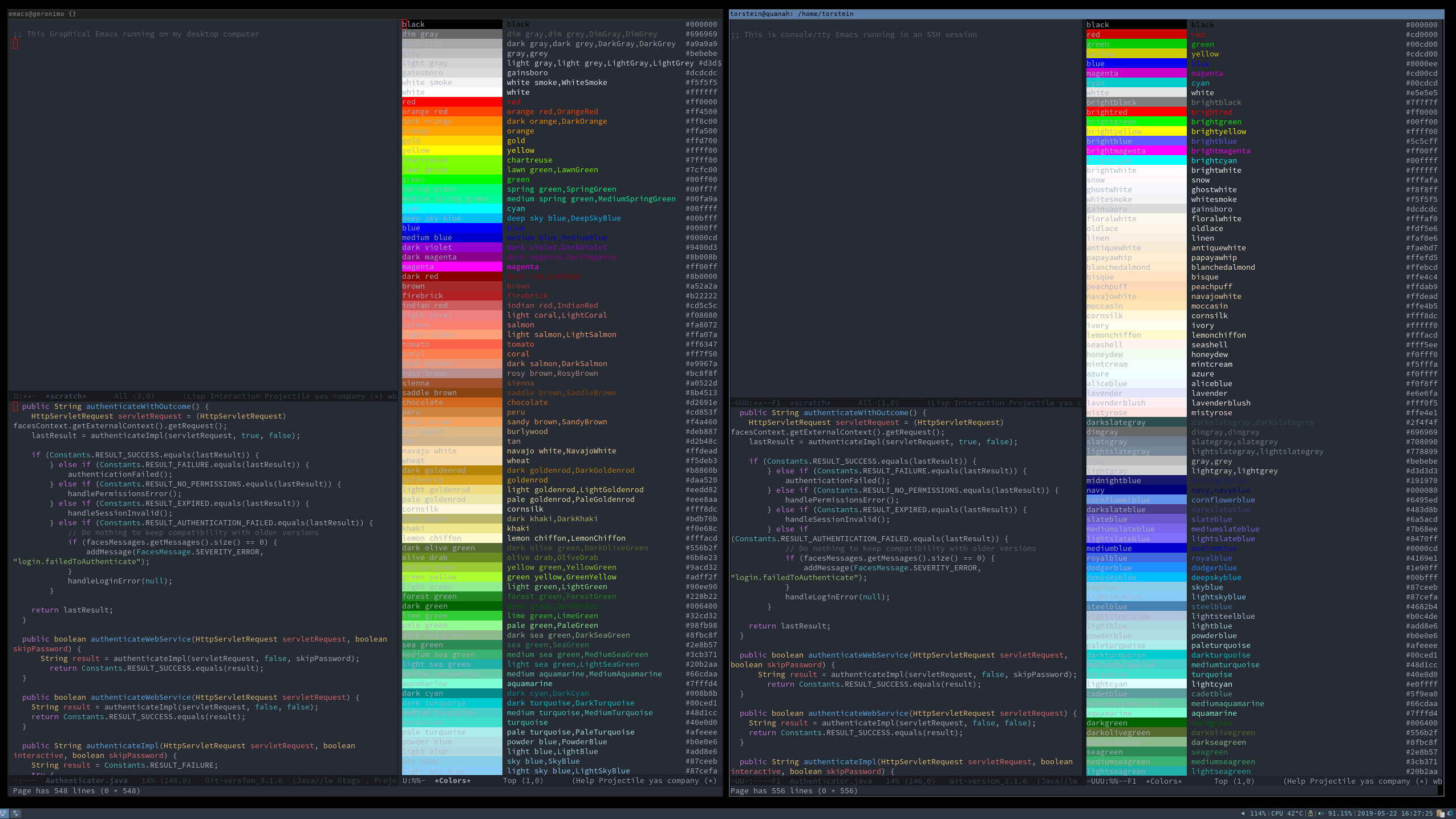 Colourful TTY Emacs | skybert net